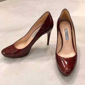 Prada Plum Heels - Like new!